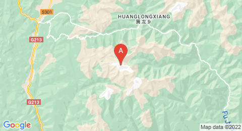 map of Mount Xuebaoding (China)